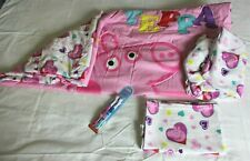 PEPPA PIG Toddler Bedding 3-Pc Set Flat and Fitted Sheets, Bedspread GUC w BONUS