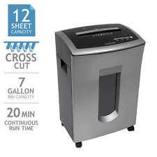 GoECOlife Commercial-grade 12-sheet Cross-cut Shredder, 7-Gallon Bin