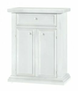 Shoe Cabinet With 2 Door 1 Drawer Port Shoes White Lacquered CMS 64x62x80H