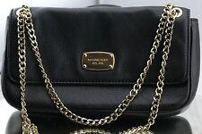 Michael Kors Small Shoulder Flap Bag Purse Black Leather
