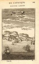 CANARY ISLANDS. View of Las Palmas de Gran Canaria. 'Canarie'. MALLET 1683