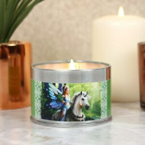Realm of Enchantment Candle By Anne Stokes, Tin Fairy Fae Unicorn Dragon Jasmine