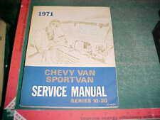 1971 CHEVY SPORTVAN & VAN 10-20-30 FACTORY SERVICE MANUAL xlnt