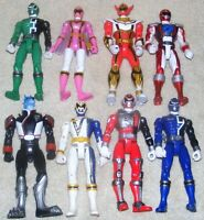 "8 Bandai Power Rangers 6"" Action Figures SPD Mystic Force Operation Overdrive"