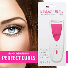Glamza Heated Eyelash Curler Longer Lashes Makeup Curl Lash Electric Silicone Re