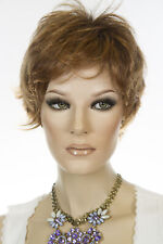 MARBLE BROWN Short Straight Wigs