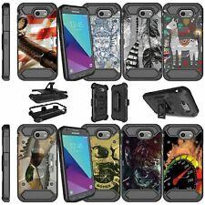 For Samsung Galaxy J3 Luna Pro | J3 Sol 2 Dual Layer Case - Animals & Skulls