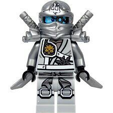 LEGO Ninjago Minifigure - Zane Titanium Ninja with Silver Katana Swords