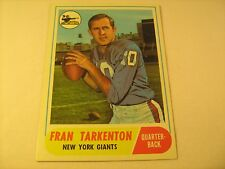 NFL Football Card FRAN TARKENTON Giants 161 Topps COIN RUB (Unused) [b5b11]