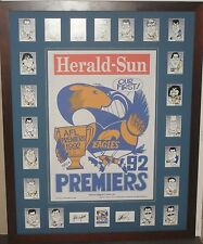 WEST COAST EAGLES 92 Premiership Tribute WEG Poster & Premiership Weg card set