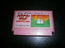 Game Nintendo Famicom(Nes Jap ): Binary Land - Cartridge Only