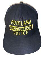 Hat Portland Connecticut Police Vintage Snapback Mesh Blue Embroidered New Era