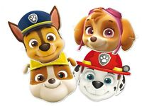 PAW PATROL DRESS UP CARD MASKS - FANCY DRESS PARTY BAG FILLERS FACE MASK