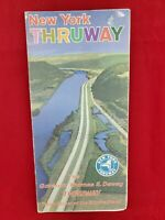 """Vintage New York Thruway Map And Info C.1965 (posting """"A"""")"""