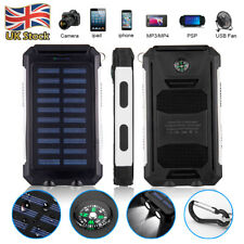 Universal 300000mAh Solar Power Bank 2USB Battery Portable Charger For Phone UK