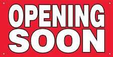 OPENING SOON 2x4 ft Vinyl Banner Grand Opening Store Coming Soon Sign New RB