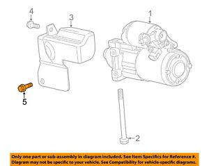 GM OEM Starter-Heat Shield Lower Bolt 11588711