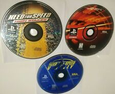 PS1 Need For Speed High Stakes, Hot Pursuit 3, V-Rally LOT - Sony Playstation 1