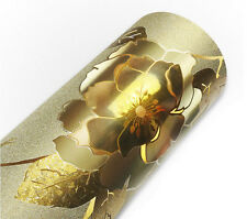 Gold Floral Textured  Matte Glitter Contact Paper  17.7-Inches by16-Feet