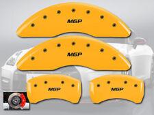 "2015 Q40 Front + Rear Yellow Engraved ""MGP"" Brake Disc Caliper Covers 4pc Set"