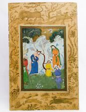 18th-19TH C ANTIQUE MUGHAL (INDIA) ILLUMINATED W/C MINIATURE MANUSCRIPT PAINTING