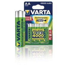 4 Batterie AA STILO Ricaricabili VARTA 2600 mAh alta qualita' ottima durata NiMH