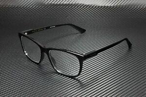 GUCCI GG0490O 006 Square Black Shiny Black Demo Lens 55 mm Men's Eyeglasses