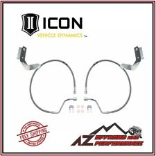 "Icon Suspension 2.5"" Extended SS Brake Lines For 17-up Ford F250 F350 Super Duty"