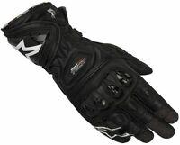 Alpinestar Supertech Motorbike Motorcycle Race gloves Black Free shipping
