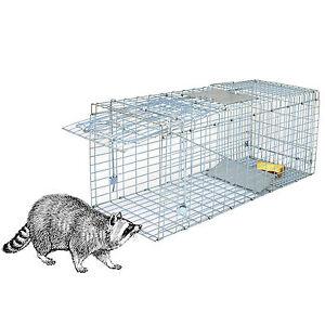 32'' Humane Live Animal Trap 1 Door Cage Rodent Rabbits Cat Raccoon Squirrel