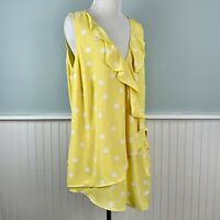 SIZE 1X INC Yellow Wrap Front Ruffle Tank Top Shirt Blouse NWT New Womens Plus