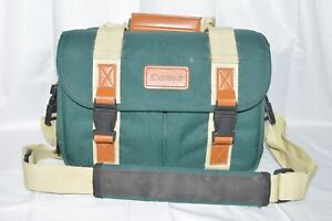 Vintage Canon Camera Bag Organizer Green Pockets Shoulder Strap DSLR Case 12x7x8