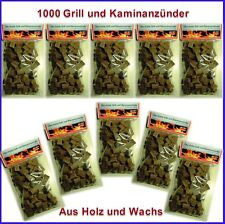 1000 St. Bio Anzünder Kaminanzünder Grillanzünder aus  Holz und Wachs