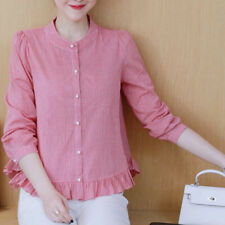 Women Solid Loose T Shirts OL Ladies Tops Long Sleeve Casual Formal Blouse