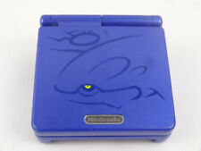 Gameboy Advance SP Kyogre Blue Handheld System Special Edition *No Charger*