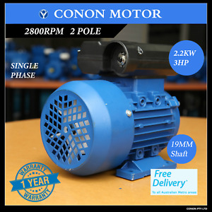 "2.2kw 3HP 2800rpm 3/4"" 19mm shaft  Compressor motor single phase 240v dual caps"