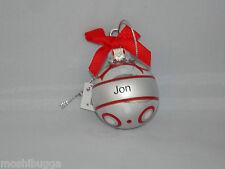 NWT~Hallmark-Joyous Noel Personalized Ornaments by GANZ-Mini-Christmas-JON