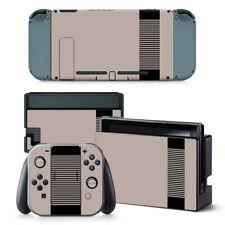 Nintendo Switch Skin Design Foils Aufkleber Schutzfolien Set - Retro NES Motiv