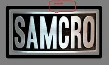SAMCRO   EMBOSSED   SONS OF ANARCHY   BELT BUCKLE    BIKER CREW ROADGEAR