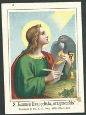 Holy card antique de San Juan Evangelista andachtsbild santino estampa
