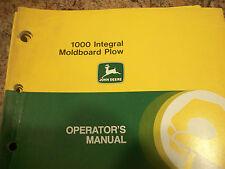 John Deere Operator'S Manual 1000 Integral Moldboard Plow