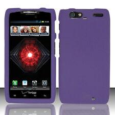 For Motorola DROID RAZR MAXX Rubberized HARD Case Snap Phone Cover Dark Purple