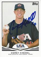 Corey Knebel Detroit Tigers USA 2011 Topps Signed Card