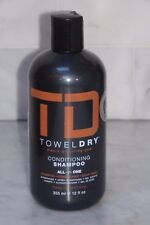 12 oz. TD Towel Dry Men's Grooming Conditioning Shampoo. All-In-One. 365ml. NEW.