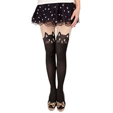 Womens Sexy Cat Tail Gipsy Mock Knee High Hosiery Pantyhose Tattoo Tights A1