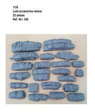 1/35 Resina lote 22 accesorios value gear estiba DIORAMA Petates blanket bags