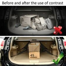 Car SUV Rear Trunk Boot Floor Cargo Net Elastic Mesh Storage Fixed Set Kit Black