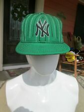 NEW YORK YANKEES NEW ERA 59FIFTY Green FITTED CAP HAT - SIZE 7 1/2