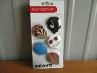 Sportcraft Unicorn FLIGHT SELECTA KIT 15 flights wings dart darts (AB-28)