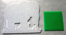 2 x Steckplatte für Bügelperlen Elefant Quadrat und über 500 Gramm Bügelperlen